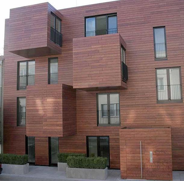 Revestimientospe a maderas pe a maderas for Revestimiento fachadas exteriores